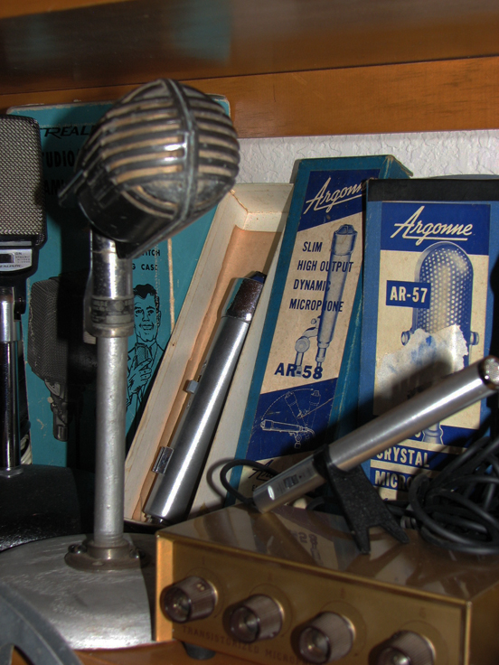 Shure 508 microphone in   Phantom Productions' vintage recording collection
