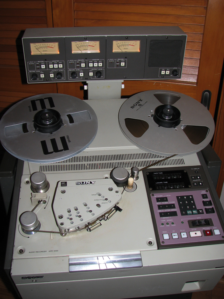 Sony APR 5003 professional reel to reel tape recorder in the Reel2ReelTexas.com's vintage recording collection