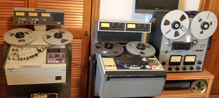 Sony APR 5003/Ampex ATR-102/Tapesonic reel tape recorders
