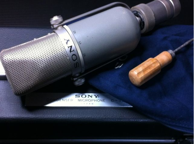 Sony C37P microphone in Reel2ReelTexas.com's vintage recording collection