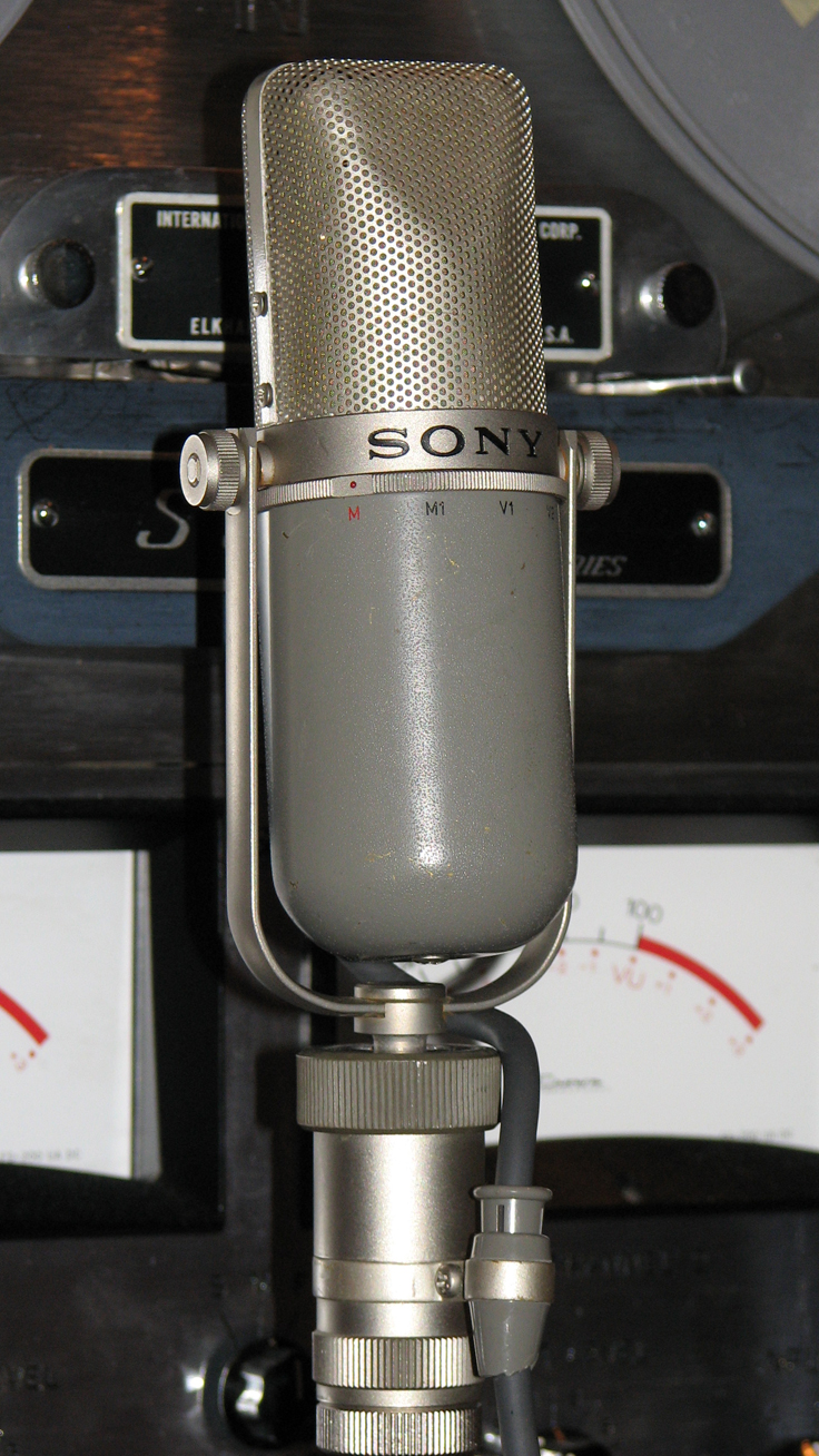 Sony C37P microphone in Reel2ReelTexas.com's vintage microphone and recording equipment collection
