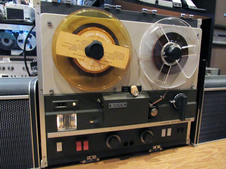 Sony TC-500A reel to reel  tape recorder in the Reel2ReelTexas.com vintage recording collection