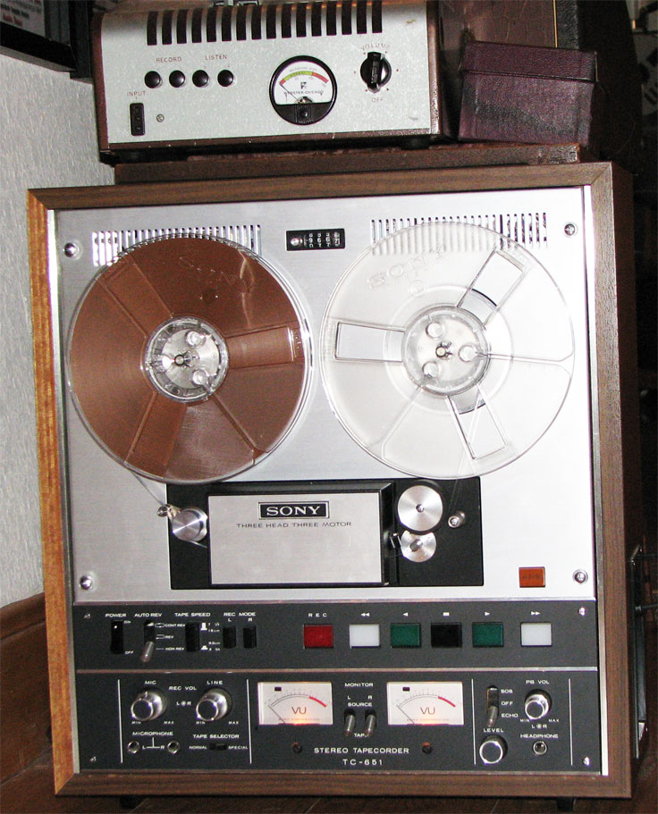 Sony TC-651 donated by Don Nattinger to the Reel2ReelTexas collection