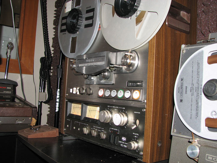 Sony TC-765 the last reel to reel tape recorder made by Sony in Reel2ReelTexas.com's vintage recording collection