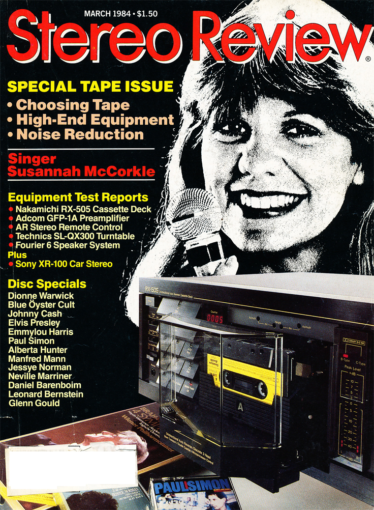 March 1984 cover of the Stereo Review Tape issue in Reel2ReelTexas.com's vintage recording collection