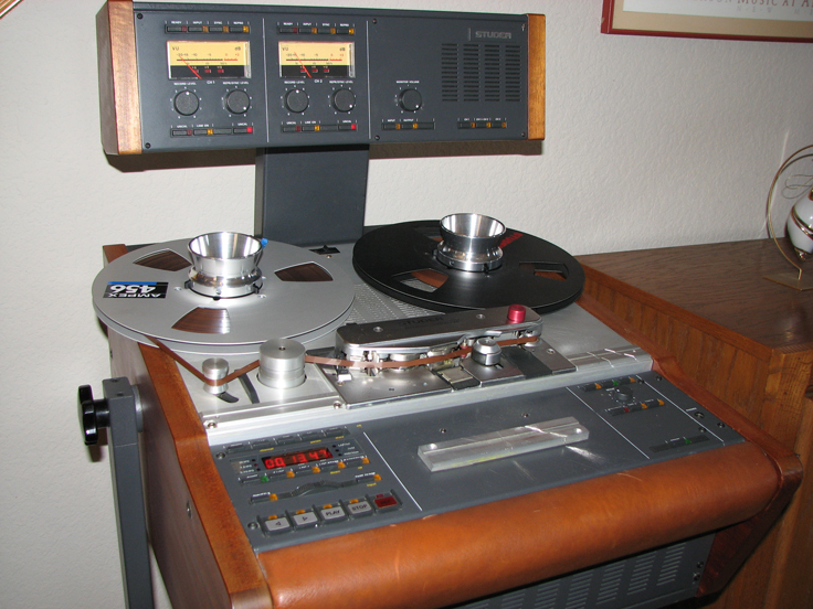 Studer A807 professional reel to reel tape recorder in the Reel2ReelTexas.com's vintage recording collection