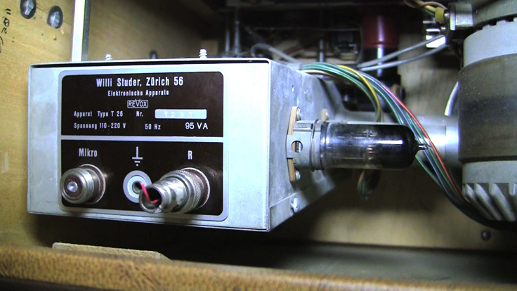 Phantom Productions' Studer ReVox Dynavox T-26 reel tape recorder from 1949 by Willi Studer