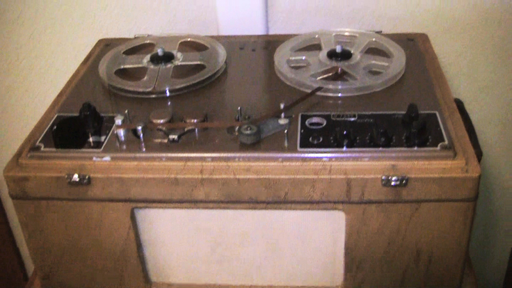 picture of Brush BK 401 Sound mirror reel tape recorder in Phantom Productions, vintage recorder collection