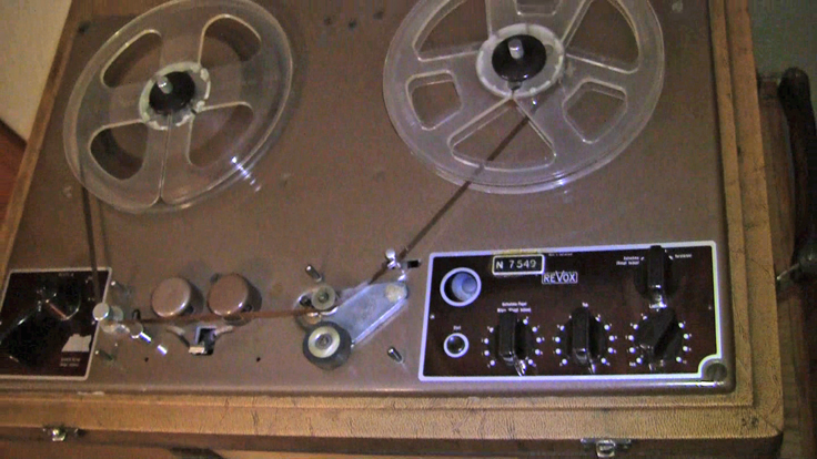 Willi Studer's first reel tape recorder the Studer ReVox Dynavox T-26 in the Reel2ReelTexas.com's vintage recording collection