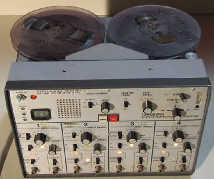 Tandberg 100 instrumentation reel to reel tape recorder using the basic Tandberg 11 CP tape mechanism in the Reel2ReelTexas.com's vintage recording collection
