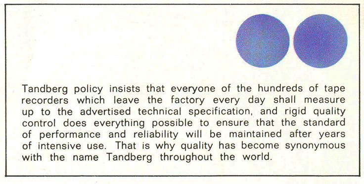 1960's profile of the Tandberg reel to reel tape recorder factory in the Reel2ReelTexas.com's vintage recording collection