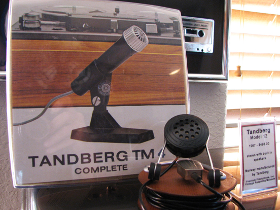 Tandberg TM-4 microphone in   Phantom Productions vintage recording collection