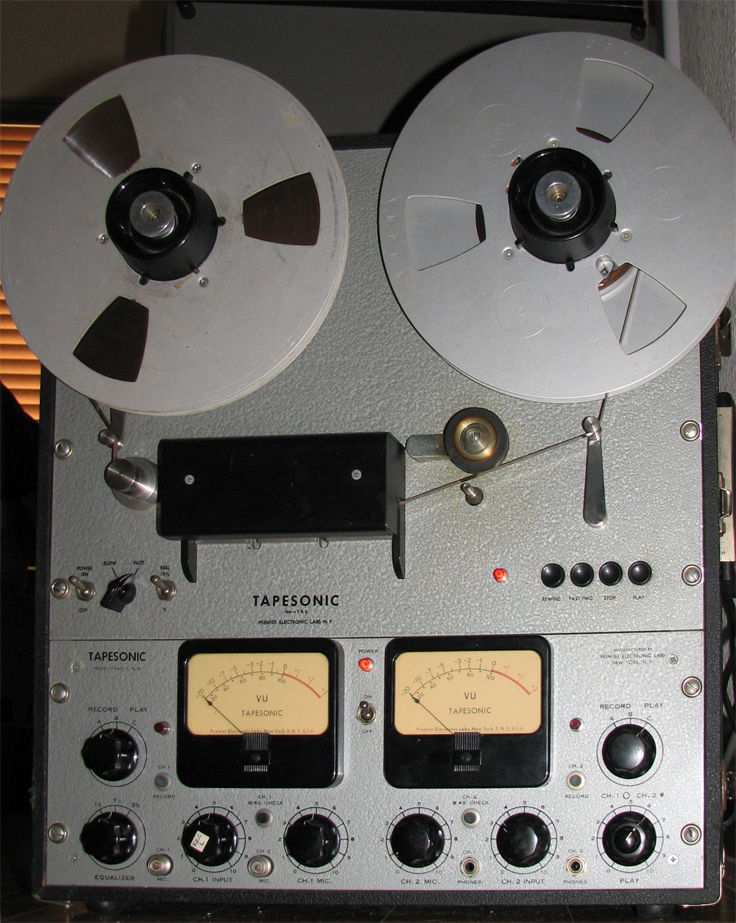 Tapesonic 70A reel tape recorder in the   Phantom Productions'vintage recording collection