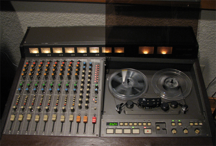 Tascam 388 Studio 8 in Phantom Productions' vintage tape recording collection