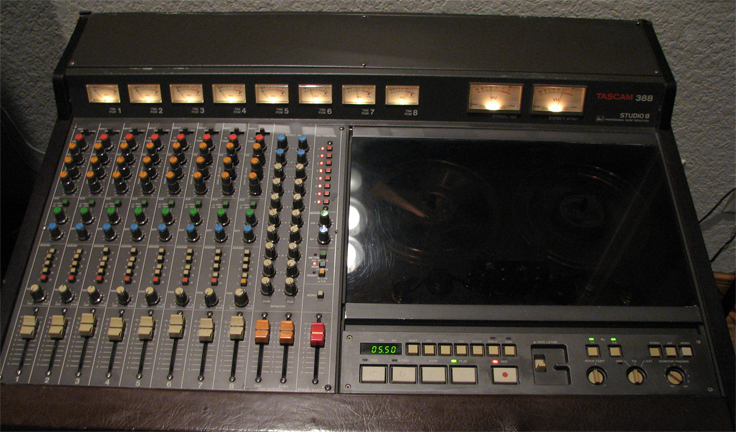 "Tascam 388 Studio 8 in Phantom Productions' vintage tape recording collection. The bands that have used this model recorder to record their albums are ""The Black Keys"" and Bruce Springsteen."