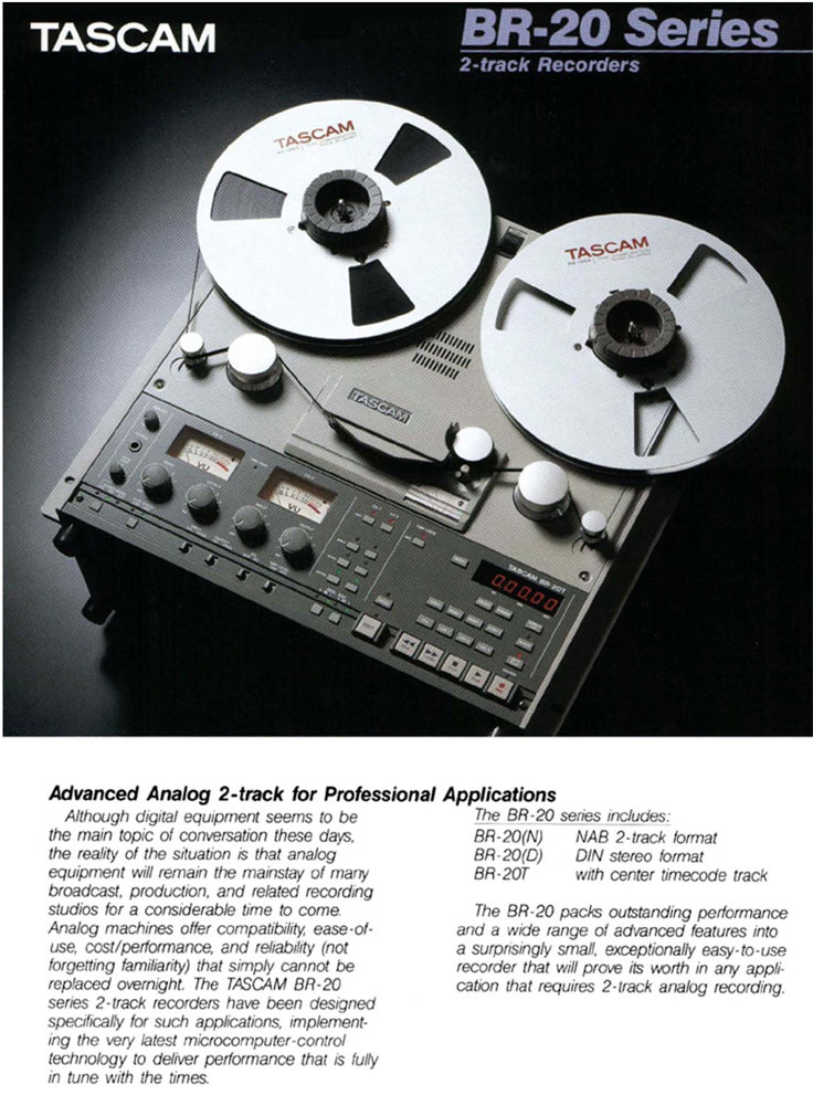 Tascam BR-20 brochure in the Reel2ReelTexas.com vintage recording collection