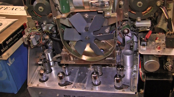 Teac 505 reel to reel tape recorder being restored by Phantom Productions, Inc.