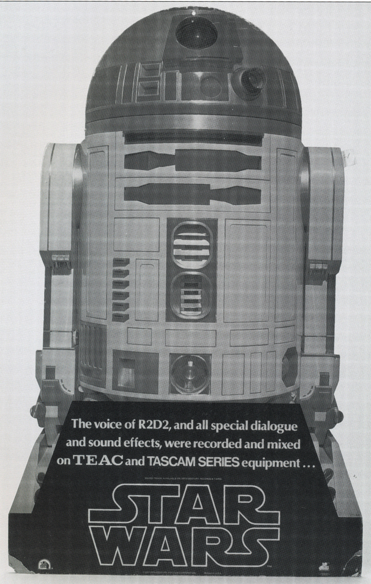Star wars ad for the R2D2 audio recording effects completed by the Teac Tascam 80-8 pro reel to reel tape recorder in the Phantom Productions, Inc.'s Reel2ReelTexas.com