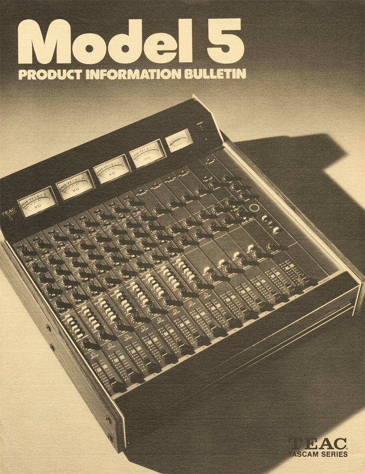 Teac Tascam Model 5 mixer ad in the Museum of magnetic Sound Recording