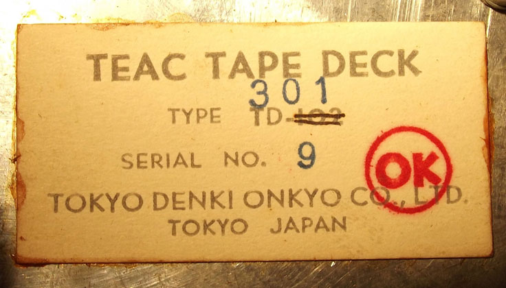 Teac TD-102 one of the first tape recorder built by Teac