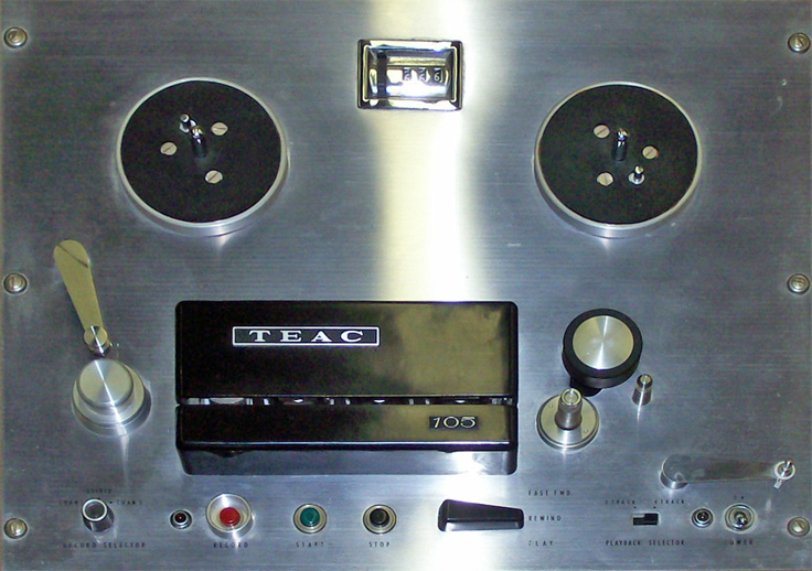 Teac TD-105 reel to reel tape recorder photo in the Museum of Magnetic Sound Recording