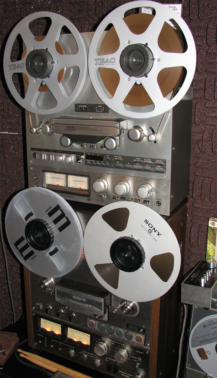 Teac X-1000R & Sony TC-765 reel to reel tape recorders  in the Reel2ReelTexas.com's vintage recording collection