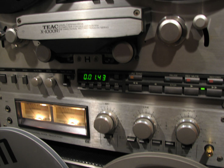 Teac X1000R reel to reel tape recorder in the Reel2ReelTexas.com's vintage recording collection