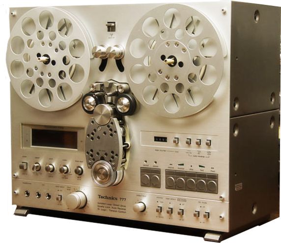 Technics 777 reel to reel tape recorder in the Museum of Magnetic Sound Recording