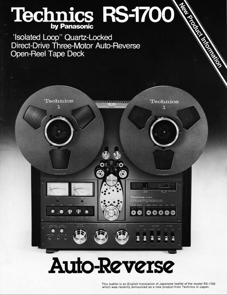 Technics RS-1700 reel to reel tape recorder ad in the Museum of magnetic Sound Recording