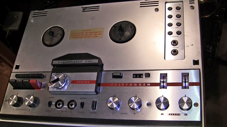 Telefunken Magnetophon 204 reel tape recorder in Reel2ReelTexas.com's vintage recording collection