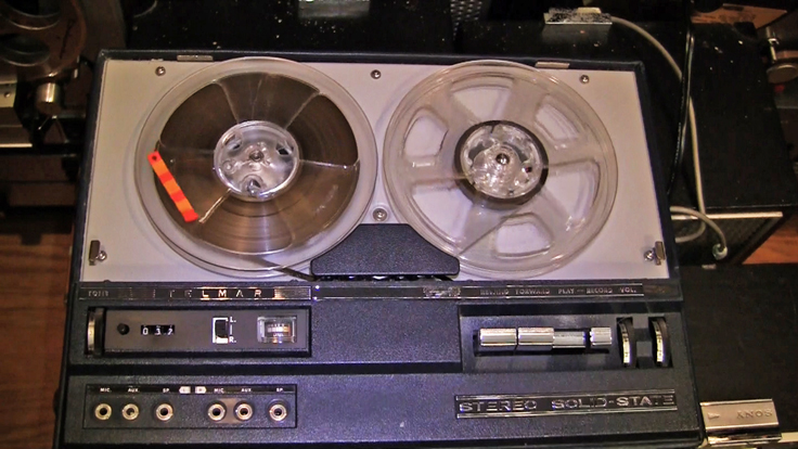 Uher Telmar T-420 stereo portble reel to reel tape recorder in the reel2reeltexas.com vintage recording collection