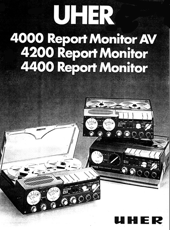 "1981 Uher 4400 Report Monitor 5"" reel to reel tape recorder in Reel2ReelTexas.com's vintage recording collection"