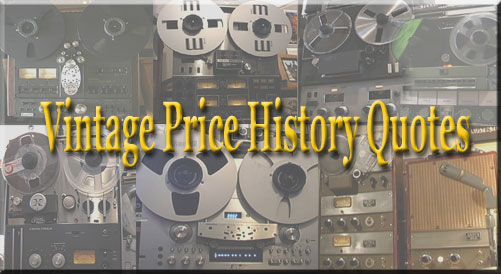 picture of multiple recorders with word Vintage Price History Data