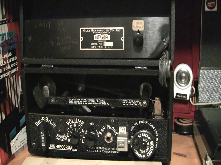 Miles Reproduction, Inc. Walkie RecordAll sonoband recorder in Reel2ReelTexas.com's vintage recording collection