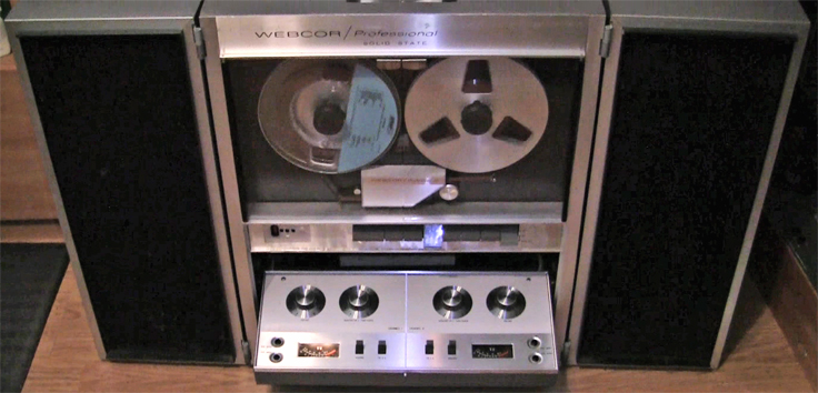 Webcor Professional CP2650 reel tape recorderin Reel2ReelTexas.com's vintage recording collection