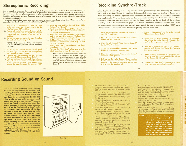 1965 operating manual for the Webcor Professional 2650 reel to reel tape recorder in Reel2ReelTexas.com's vintage recording collection