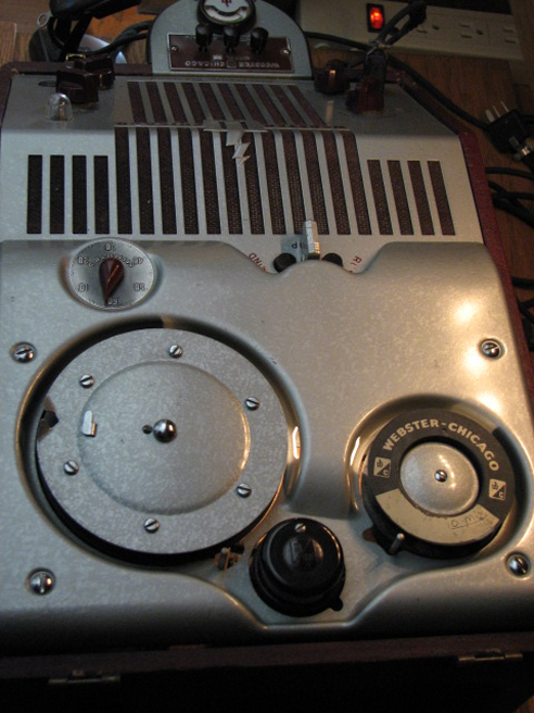 Webster Chicago 180-1 Wire recorder in Phantom Productions' vintage reel recorder collection