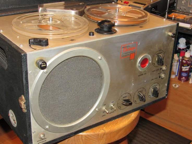 1949 Webster Electric  EkoTape reel to reel tape recorder in the Reel2ReelTexas.com vintahe recording collection