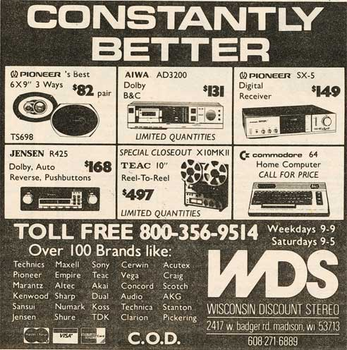 1982 WDS ad featuring