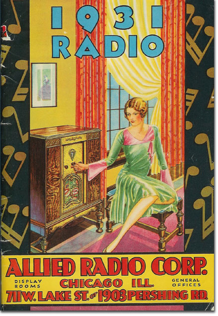 picture of 1931 Allied Radio catalog cover