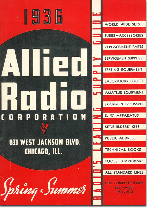 picture of 1936 Allied Radio catalog