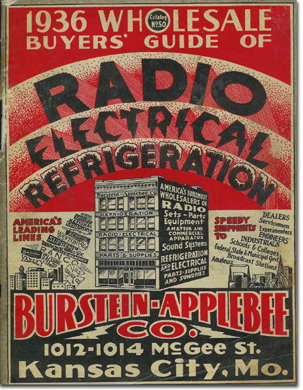 picture of cover of 1936 Burstein Applebee Radio catalog