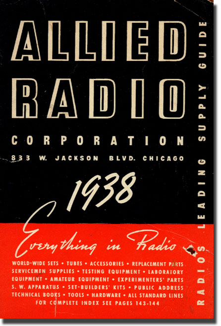 picture of 1938 Allied Radio catalog