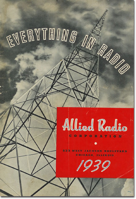 picture of the cover of the 1939 Allied Radio catalog