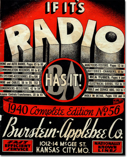 picture of the 1940 Burstein Applebee Radio catalog