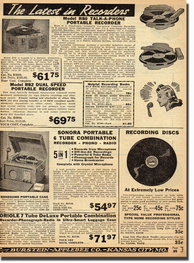 picture of 1942 BA catalog recording items