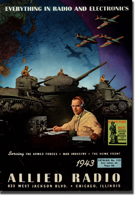 picture of cover of 1943 Allied radio catalog