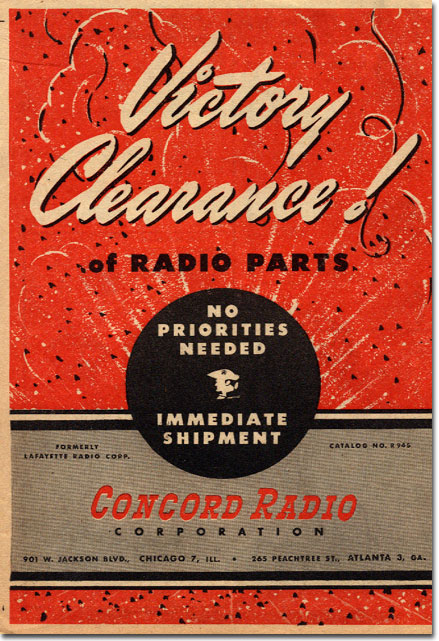 picture of cover of 1945 Concord Radio catalog