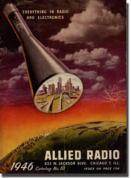 picture of the 1946 Allied Radio catalog cover