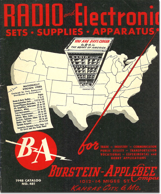 picture of 1948 Burstein Applebee radio catalog